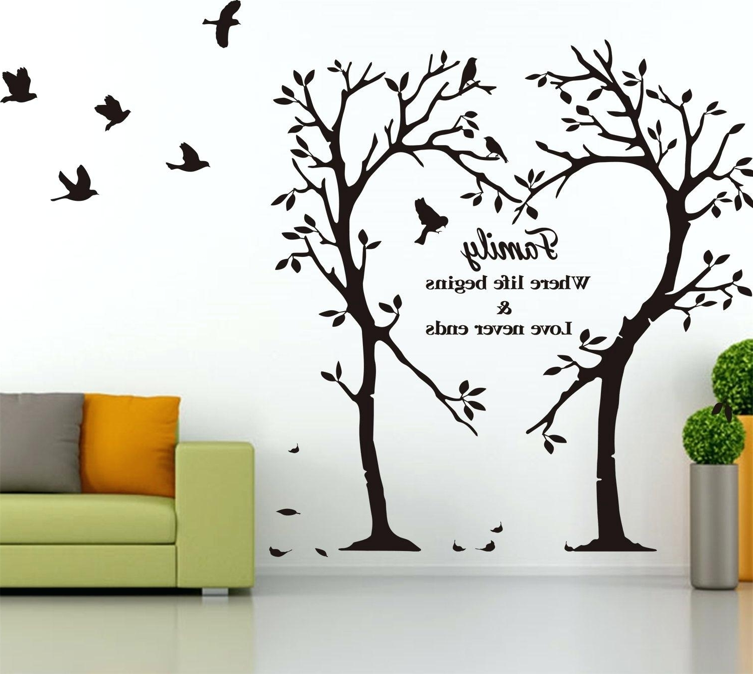 Vinyl Wall Decals Trees Wall Art Stickers Large Flower Roses Vines For Recent Tree Of Life Wall Art Stickers (View 12 of 15)