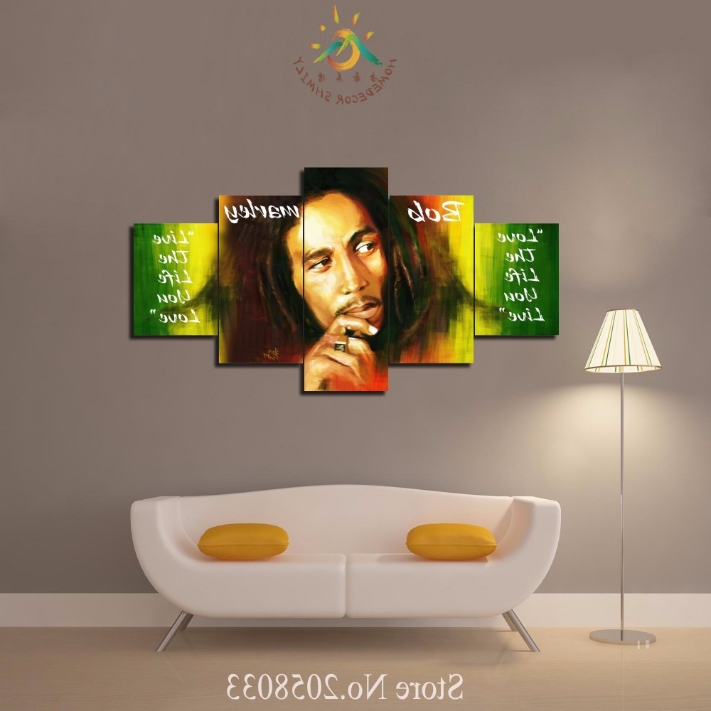 Wailing Wailers Reggae Originator Bob Marley Canvas Wall Art Pertaining To 2017 Bob Marley Wall Art (View 14 of 15)