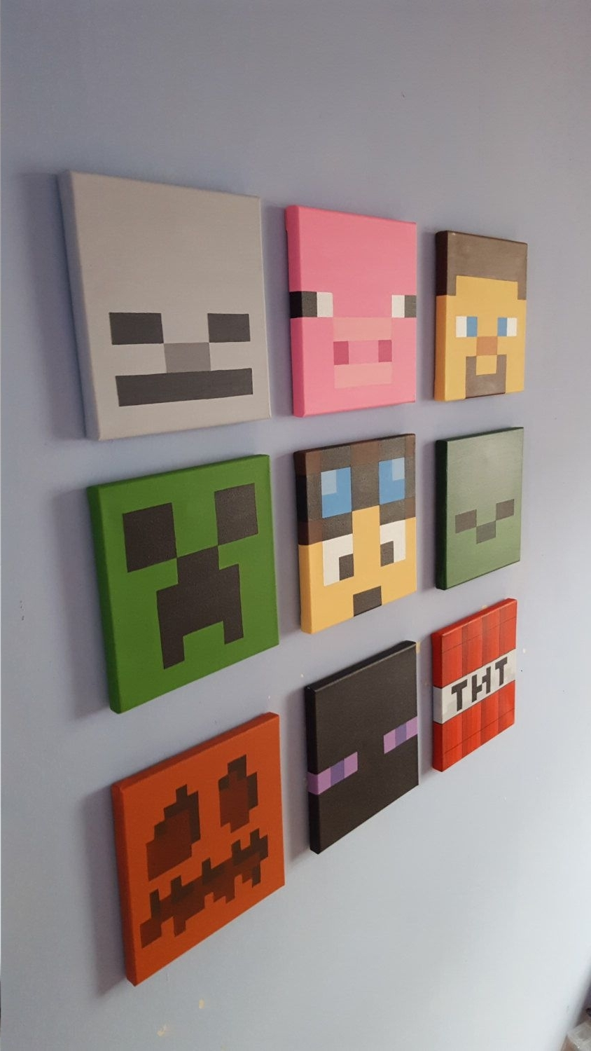 Featured Photo of Minecraft Wall Art Uk
