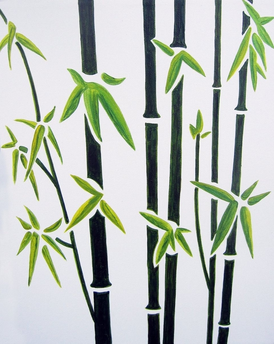 Wall Art: Best Collection Simple Bamboo Wall Art Bamboo Walls For  Throughout Trendy Bamboo Metal
