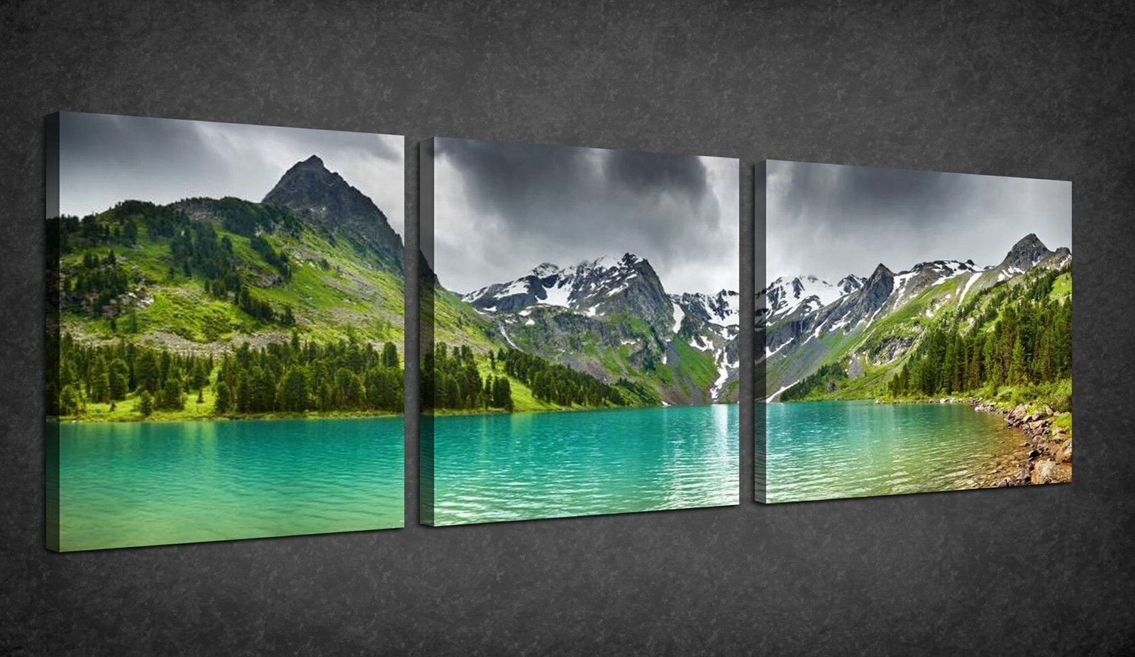 Wall Art: Best Sample Ideas Panoramic Wall Art Panoramic Canvas Regarding Popular Green Canvas Wall Art (View 13 of 15)