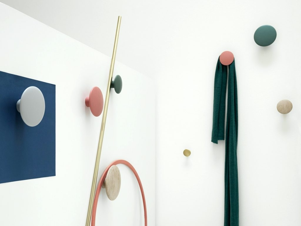 Wall Art Coat Hooks For Popular Wall Arts ~ Muuto The Dots Coat Hooks Metal Wall Art Coat Hooks (View 11 of 15)