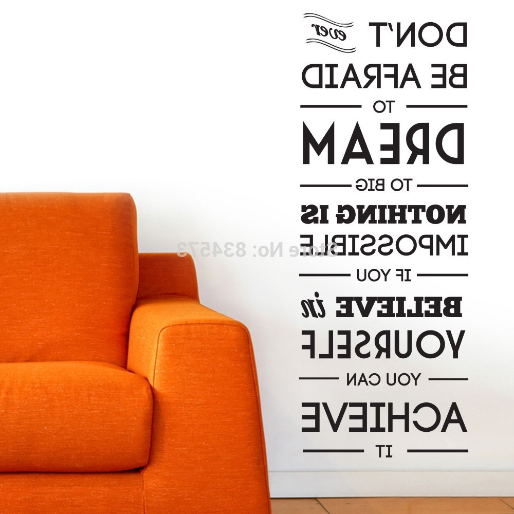 Wall Art Decor: Big Dream Motivational Wall Art Incredible Ideas With Regard To Widely Used Motivational Wall Art For Office (View 9 of 15)