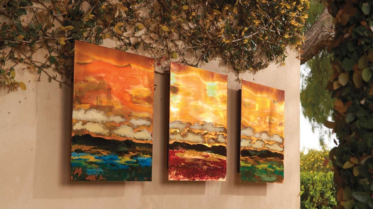 Wall Art Decor: Feng Shui Outdoor Copper Wall Art For Beautiful With Regard To Widely Used Large Copper Wall Art (View 5 of 15)