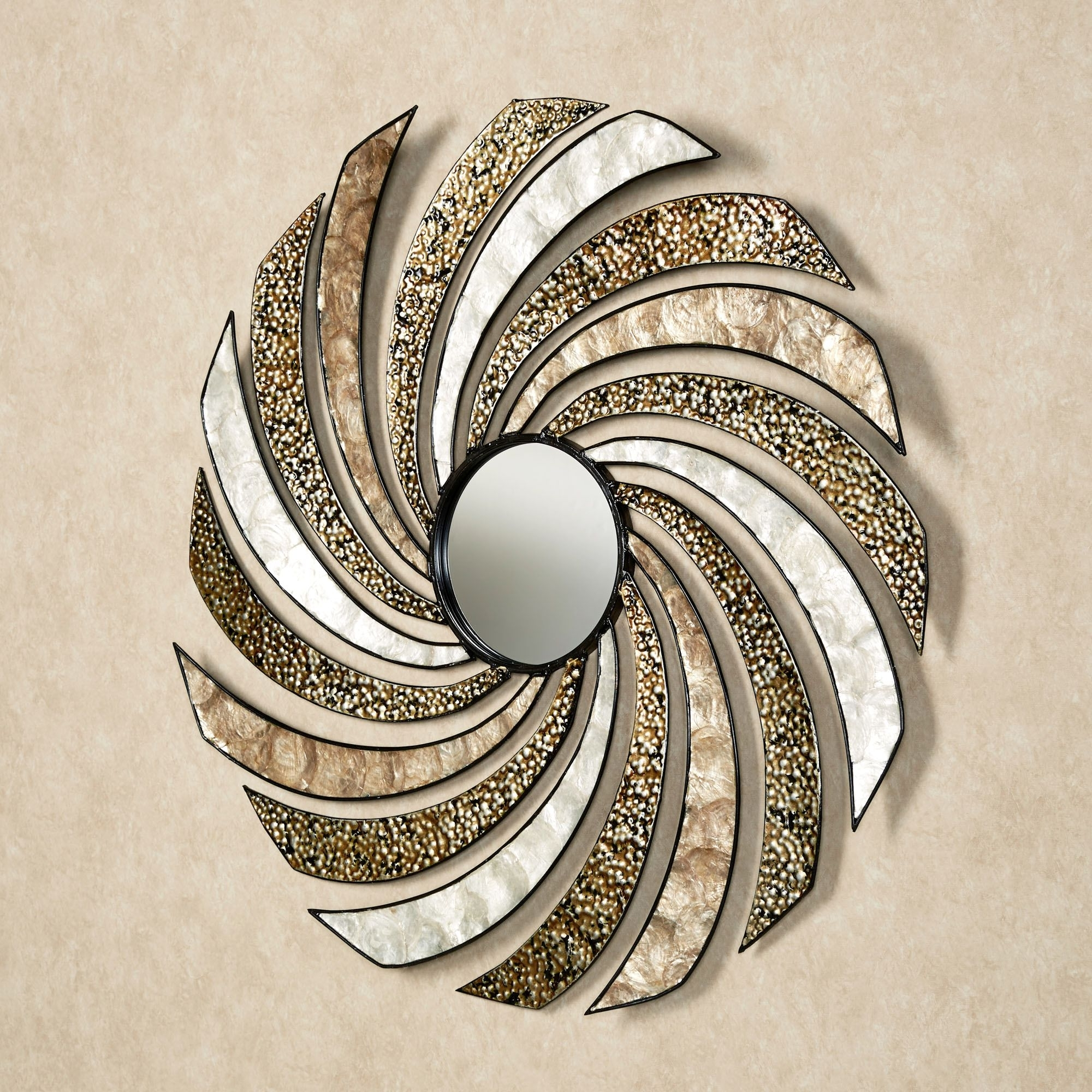 Wall Art Decor: Pasquale Swirl Mirrored Wall Art Metal Spinning In Preferred Swirl Metal Wall Art (View 13 of 15)