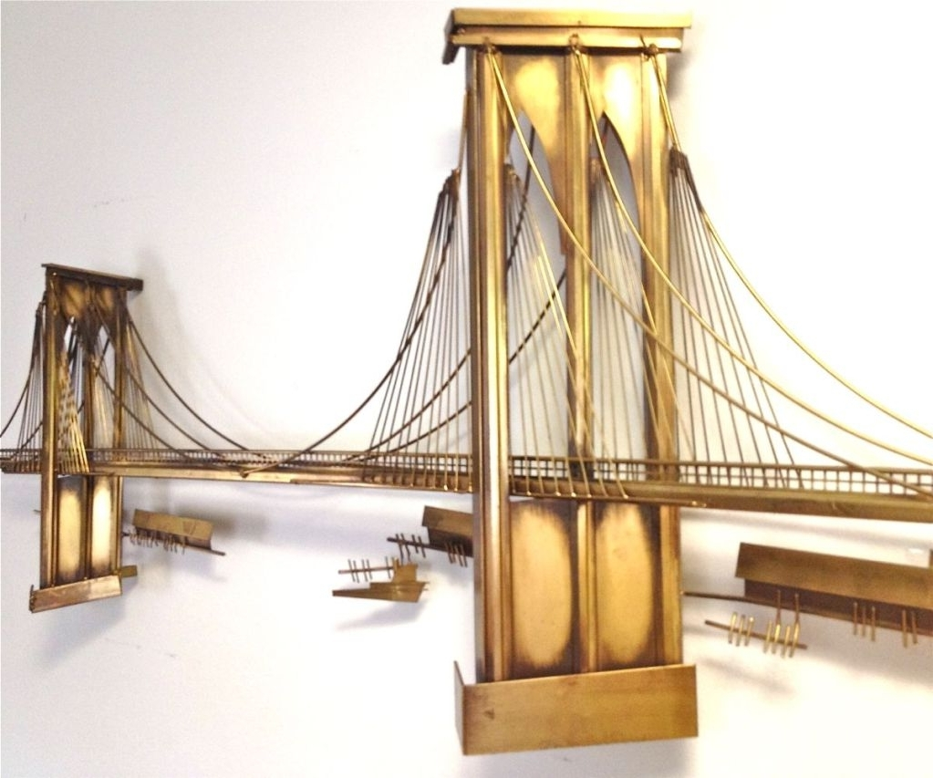 Wall Art Design: Brooklyn Bridge Wall Art Curtis Jere Metal Wall Inside Widely Used Brooklyn Bridge Wall Decals (View 14 of 15)
