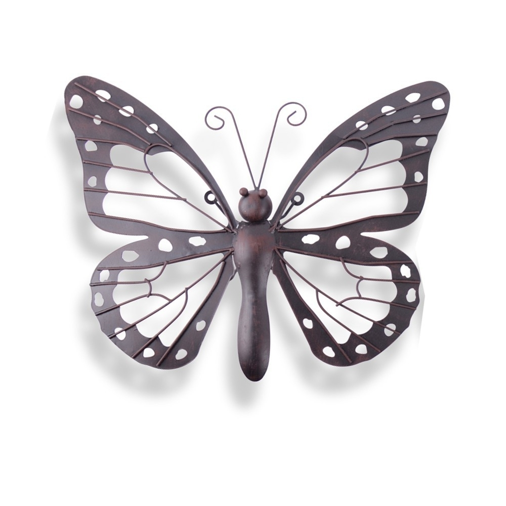 Wall Art Design Ideas: Decorative Black Brown Outdoor Metal Inside 2018 Large Metal Butterfly Wall Art (View 13 of 15)