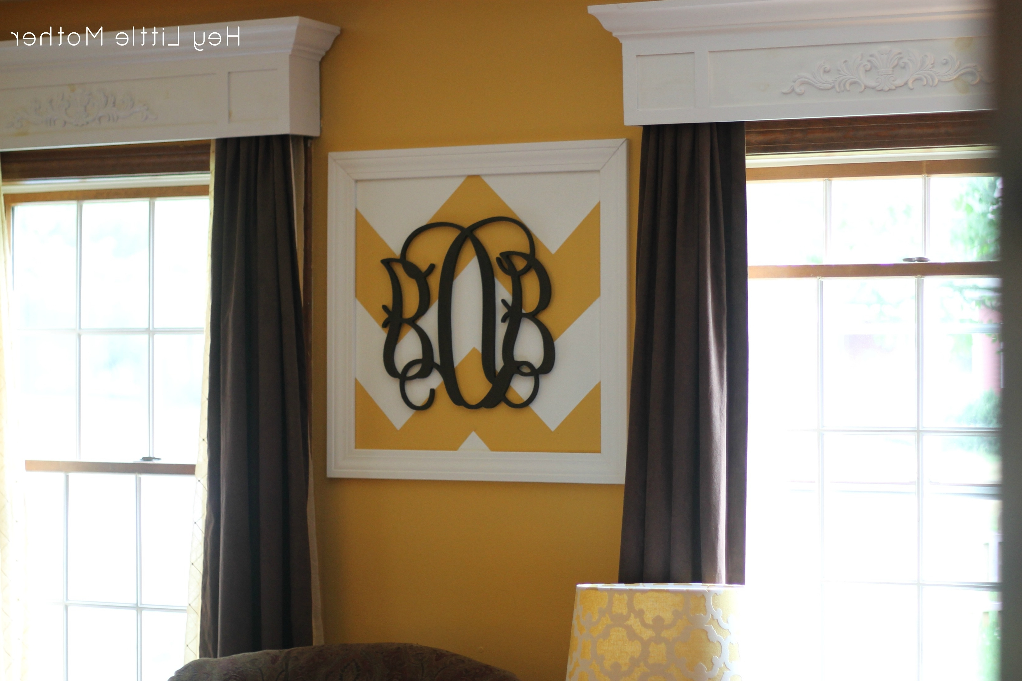 Wall Art Designs: Awesome Designed Framed Monogram Wall Art With Within Most Recent Framed Monogram Wall Art (View 14 of 15)
