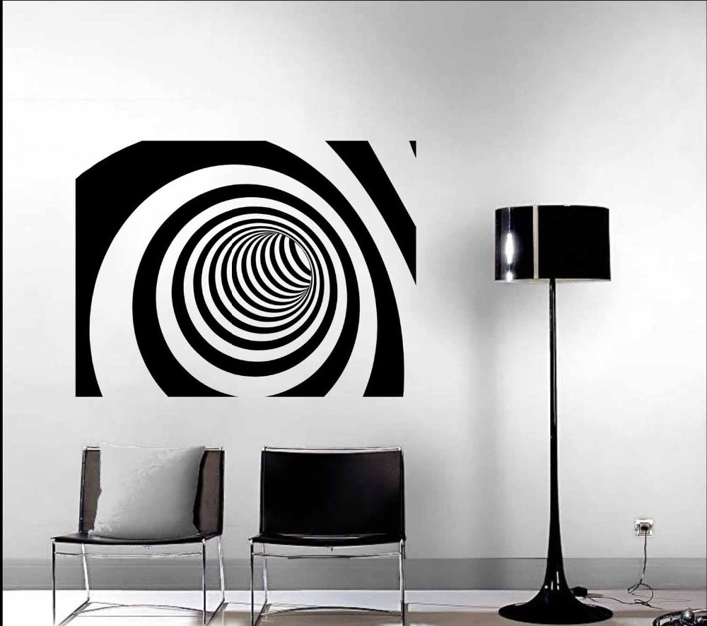 Wall Art Designs: Modern Wall Art Decor 3D Abstract Vinyl Wall Within  Newest Abstract Art