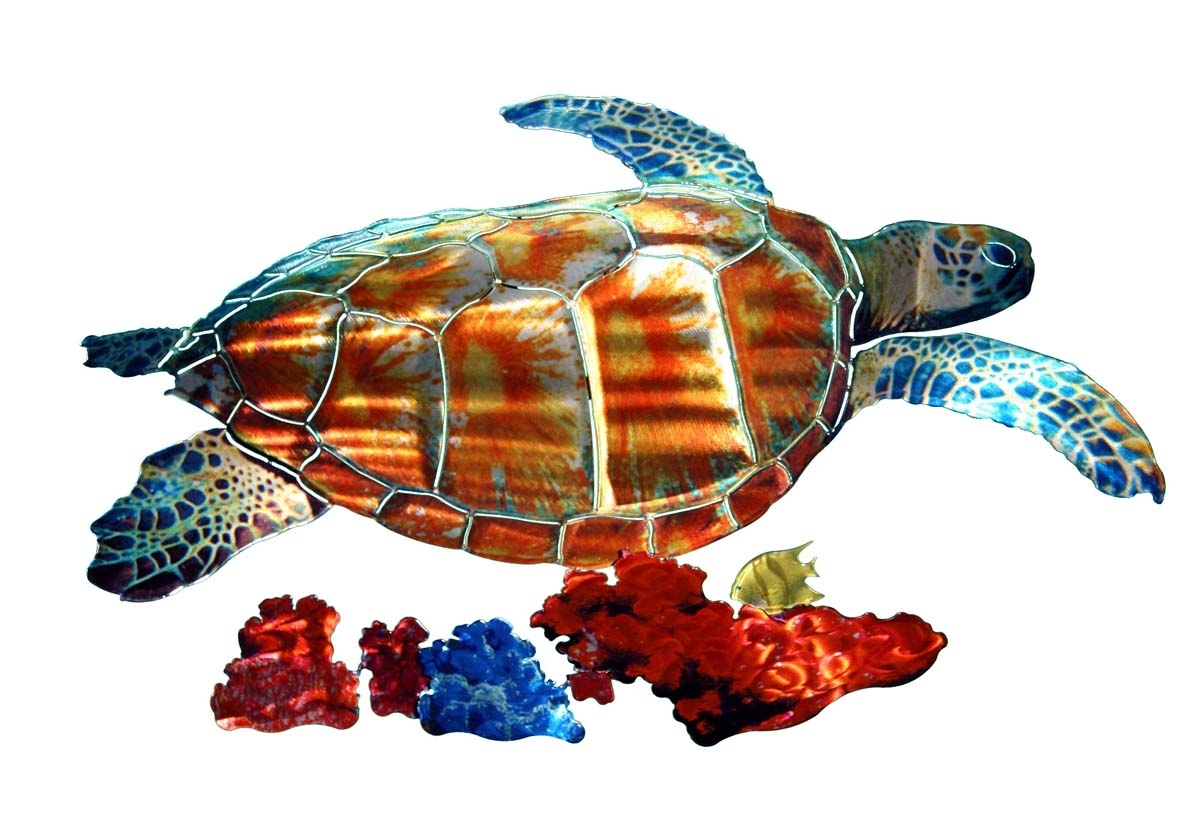 Wall Art Designs: Sea Turtle Wall Art Tropical Sea Turtle Metal For Latest Sea Turtle Metal Wall Art (View 14 of 15)
