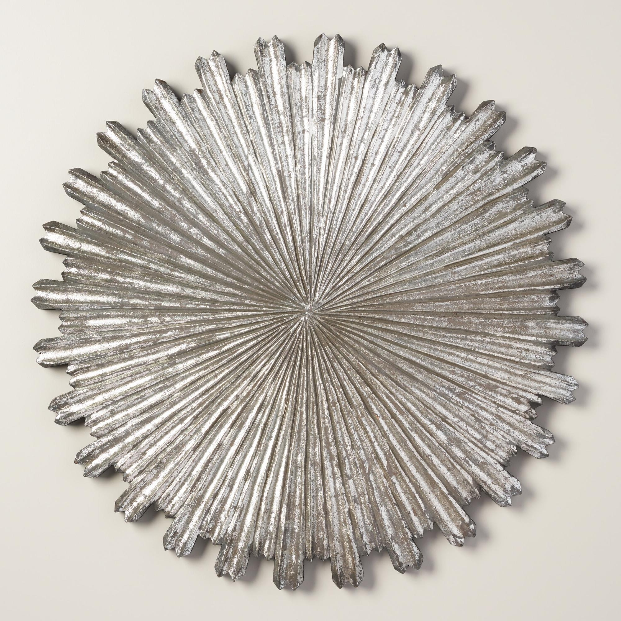 Wall Art Designs: Sunburst Wall Art Silver Wall Decor On Metal Regarding Most Recent Silver Starburst Wall Art (View 12 of 15)