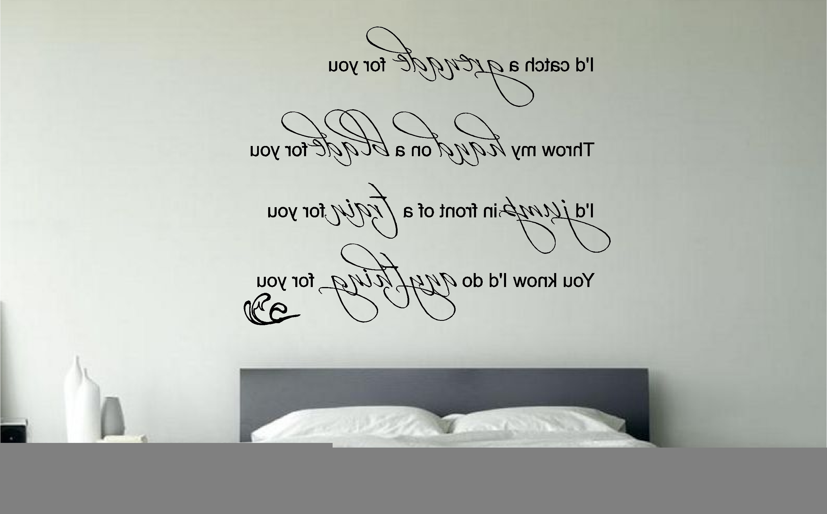 Wall Art For Bedroom With Regard To Trendy Simple Bedroom Quote Wall Art Decals Wall Art Stickers At Wall Art (View 10 of 15)
