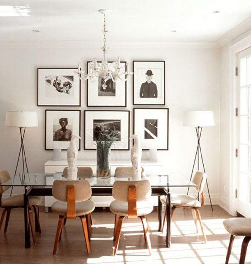 Wall Art For Dining Room In Recent Dining Room: Bright Dining Area With Photo Wall Art – 20 Modern (View 12 of 15)