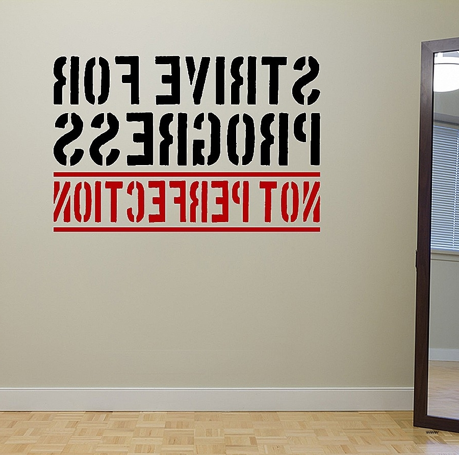 Wall Art For Home Gym Throughout Famous Trendy Inspiration Gym Wall Art With Decal Weight Room Exercise (View 11 of 15)
