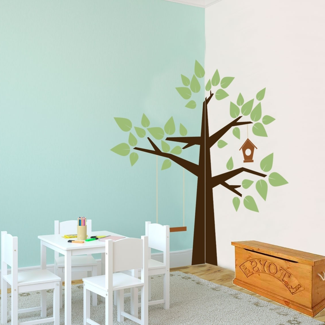 Wall Art For Kindergarten Classroom Pertaining To Most Up To Date Whimsical Corner Tree – Nature – Vinyl Wall Art Decal For Kids (View 11 of 15)