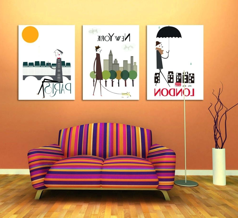 Wall Art For Office Space With Regard To Most Recent Office Design : 3  Panel Triptych