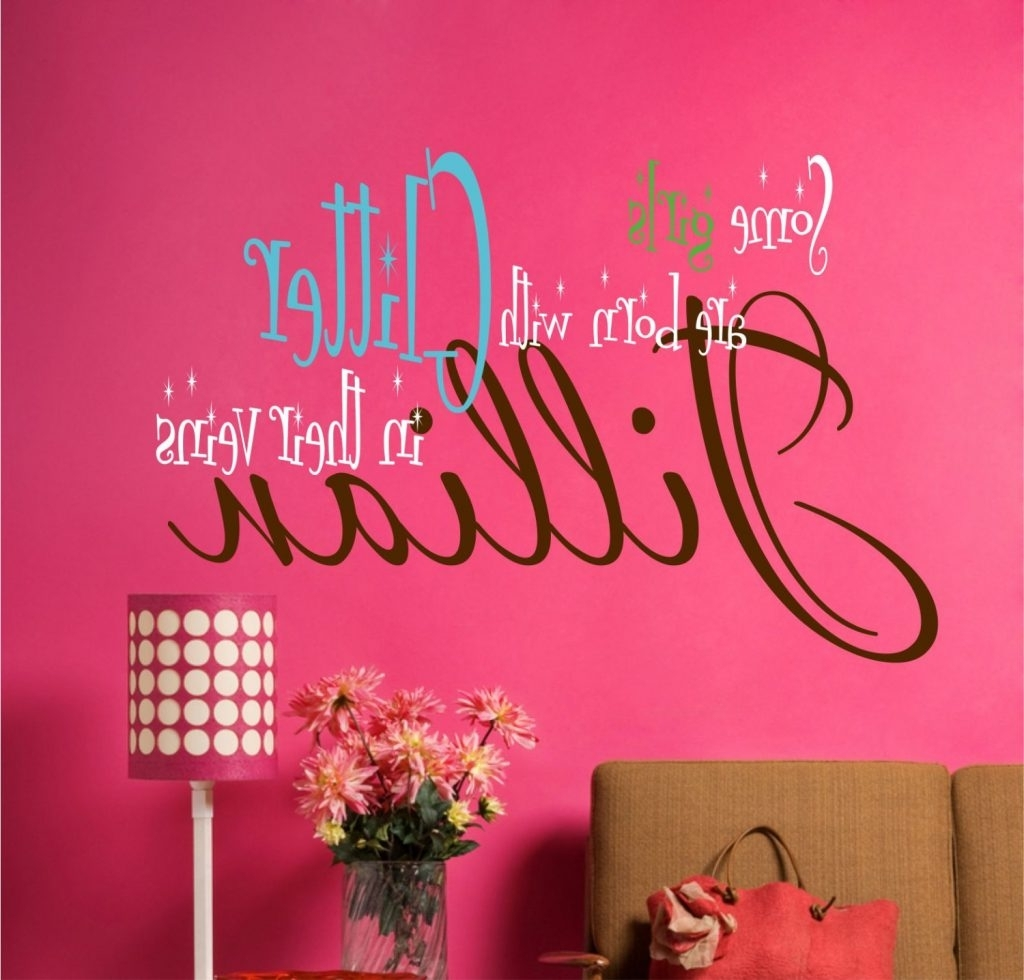 Wall Art For Teenagers Pertaining To Popular Valuable Design Ideas Teen Girl Wall Art Surf Tween Room Diy (View 12 of 15)