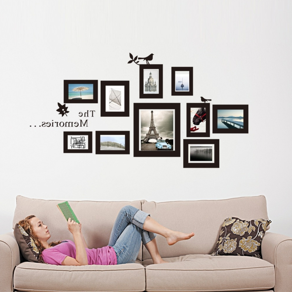 Wall Art Frames With Current Wall Art: Adorable Of Wall Art Frame 2016 Frame Wall Stickers, Art (View 5 of 15)