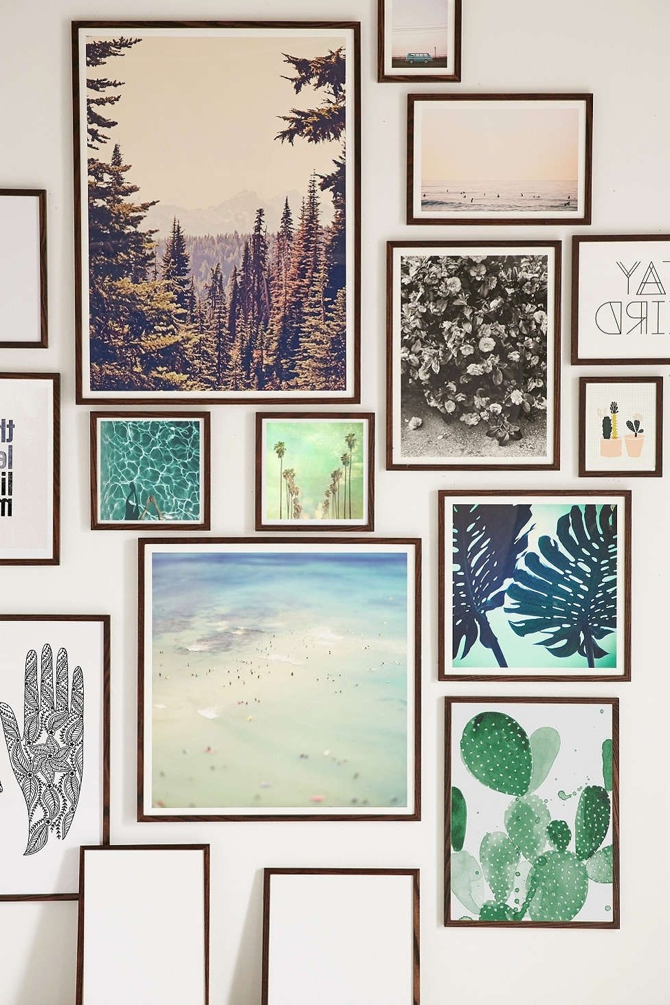 Wall Art Frames Within Most Up To Date Walnut Wood Art Print Frame (View 4 of 15)