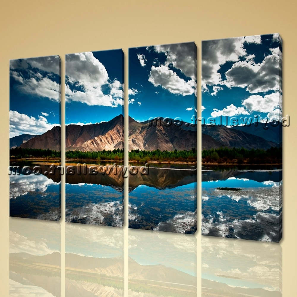 Wall Art Home Decor Print On Canvas Hd Tibet Mountain Landscape Inside Well Liked Canvas Landscape Wall Art (View 15 of 15)