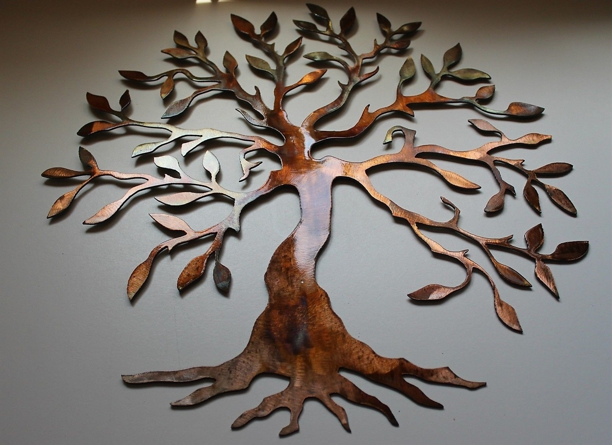 Wall Art Ideas Design : Bronze Metal Wall Art Tree Of Life Simple With Trendy Tree Sculpture Wall Art (View 12 of 15)