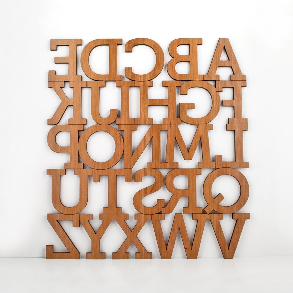 Wall Art Letters Uk For Favorite Wooden Alphabet Letters (View 9 of 15)