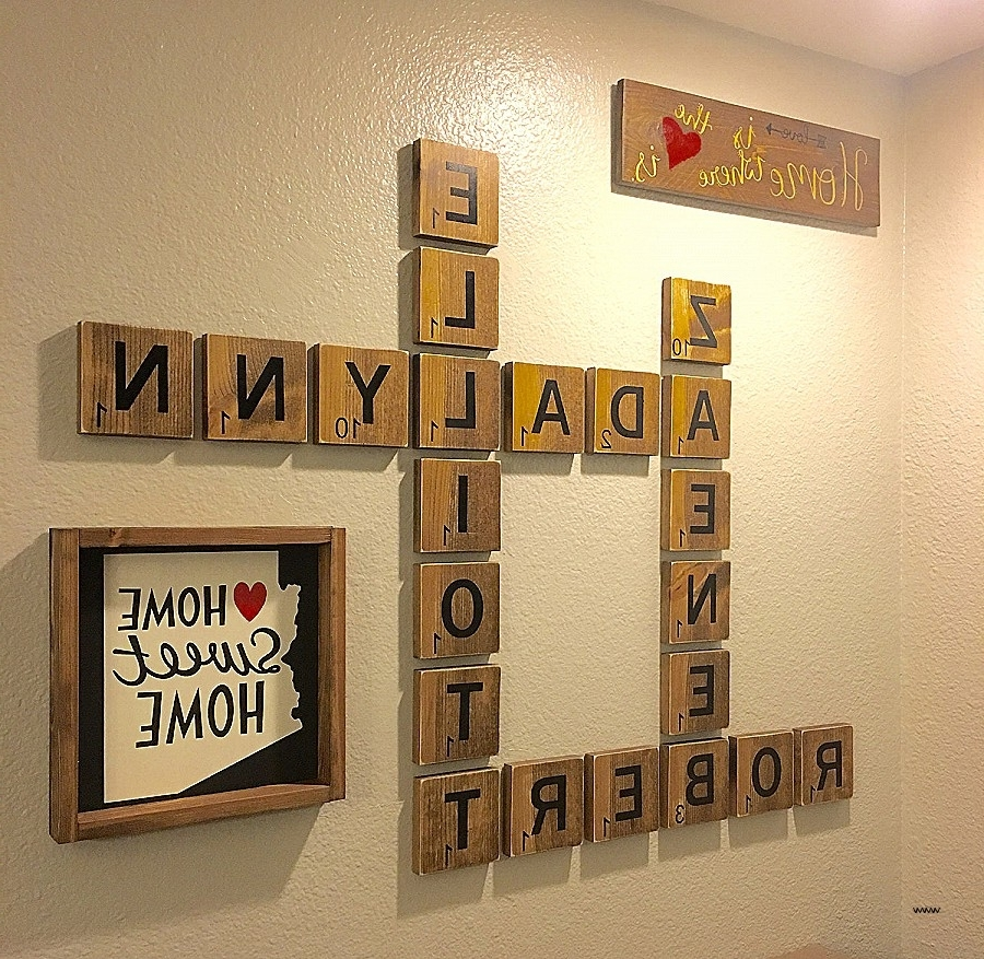 Unique Wall Art Letter Composition - Wall Art Collections ...