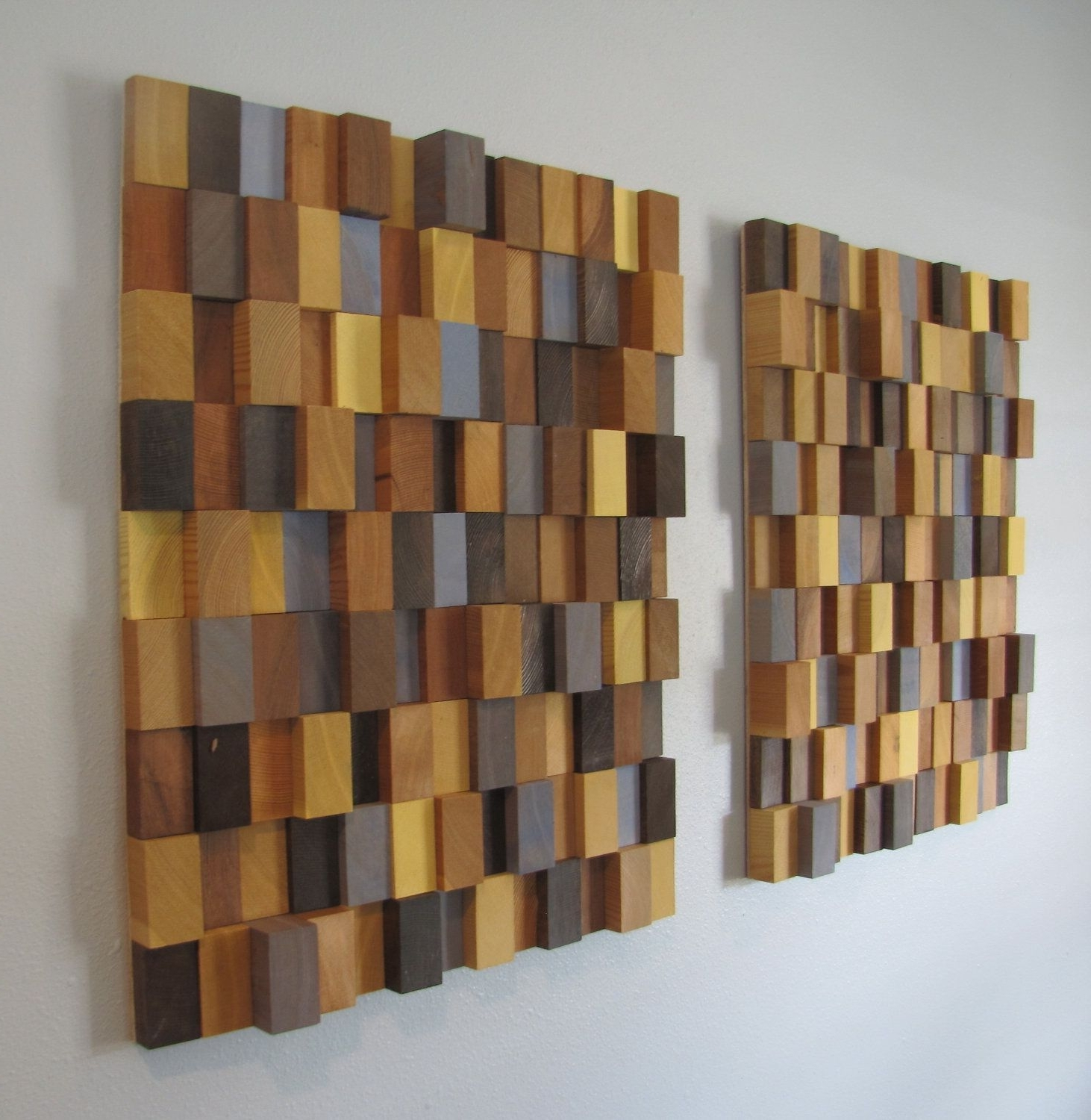 Wall Art! Make Thinner Sections To Fit Each Stair With Colors To With Regard To Fashionable 3D Modern Wall Art (View 13 of 15)