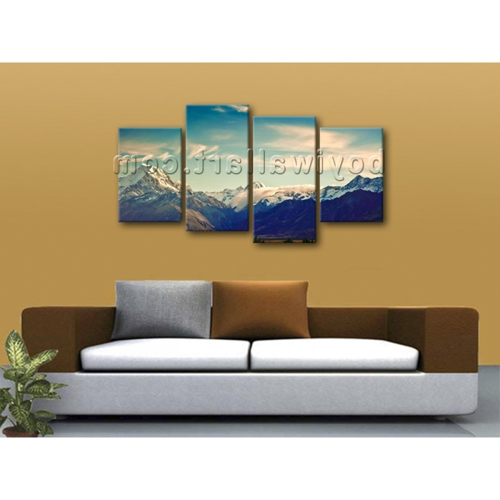 Wall Art Multiple Pieces Regarding Most Popular Large Multiple Pieces Contemporary Home Decor Landscape Wall Art (View 14 of 15)