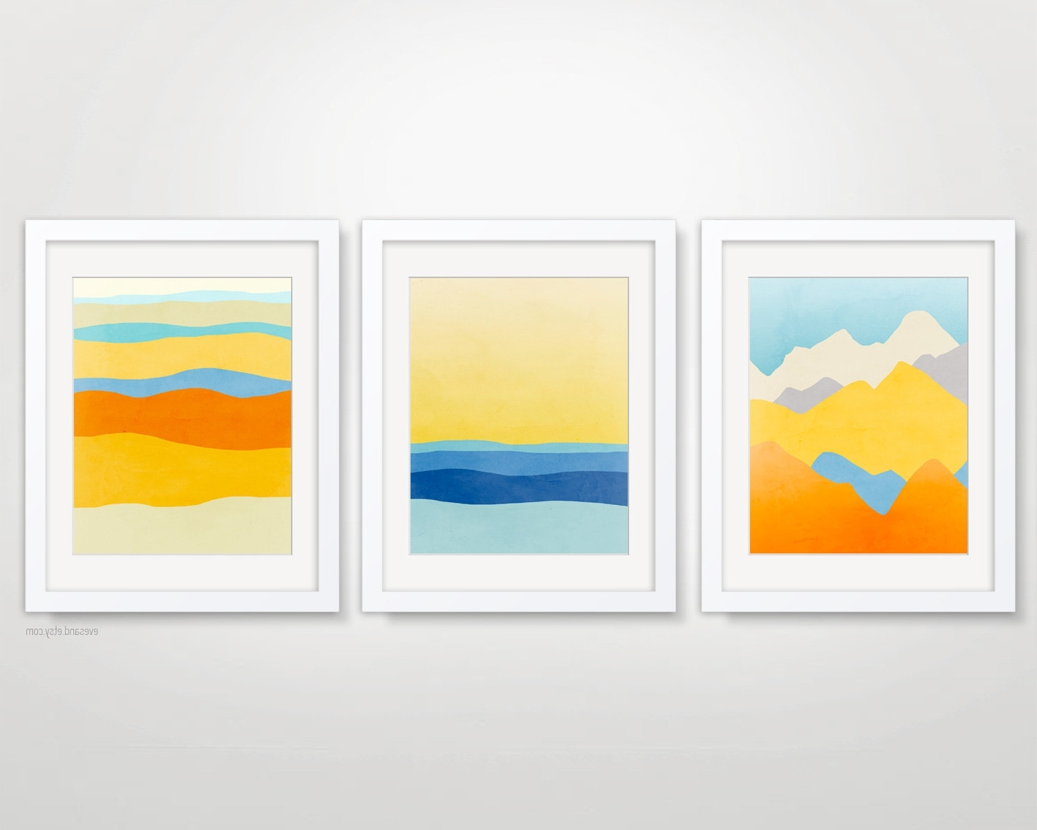 Wall Art Print Sets With Favorite Minimalist Art Prints, Abstract Landscape Art, Modern Art Posters (View 12 of 15)
