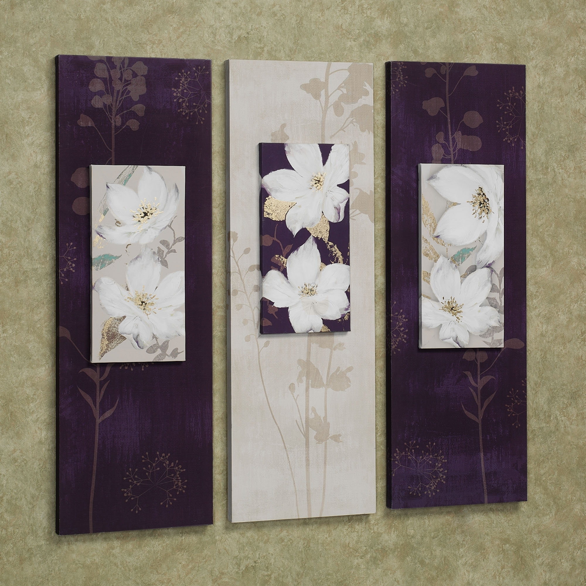 Wall Art Sets, Canvases With Regard To Purple Canvas Wall Art (View 4 of 15)