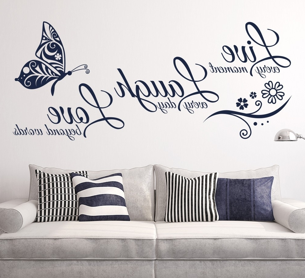 Wall Art Stickers – Elegant And Artistic Design Ideas • Recous With Regard To Best And Newest Wall Cling Art (View 12 of 15)
