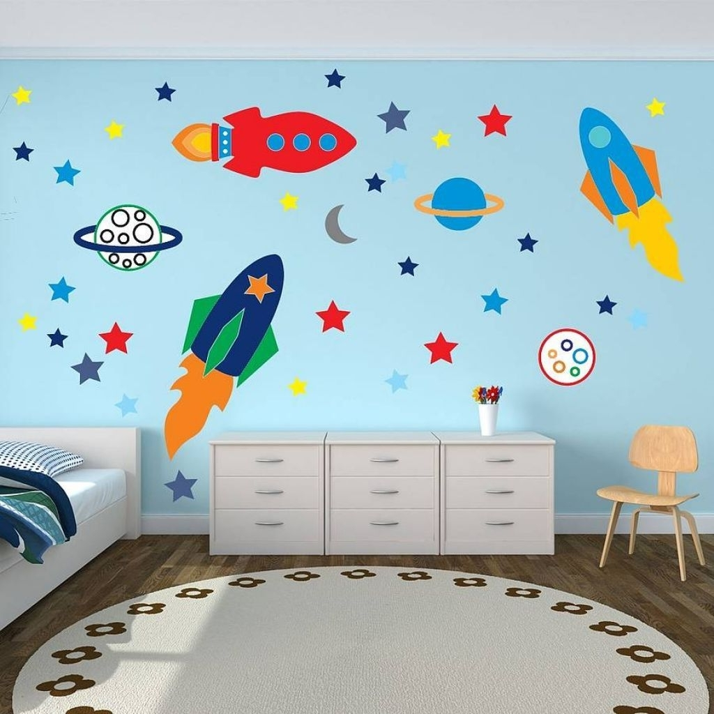 Wall Art Stickers For Childrens Rooms Pertaining To Best And Newest Best Wall Art For Kids Bedroom Decor Ideas Pic Of Decals Trends (View 10 of 15)