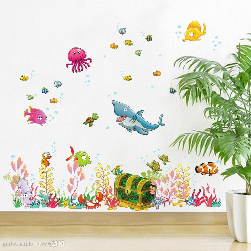 Wall Art Stickers For Childrens Rooms With Famous 2015 New Sea World Childrens Room Wall Sticker Ocean World Cartoon (View 11 of 15)