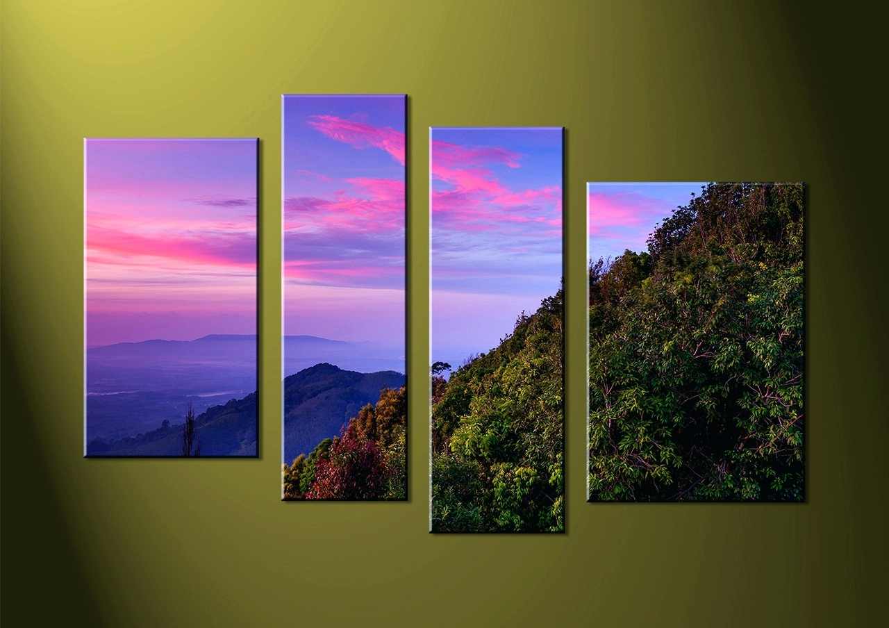 Wall Arts ~ 3 5 Piece Canvas Wall Art Multi Panel Canvas Art Diy In Most Popular Multiple Piece Canvas Wall Art (View 11 of 15)