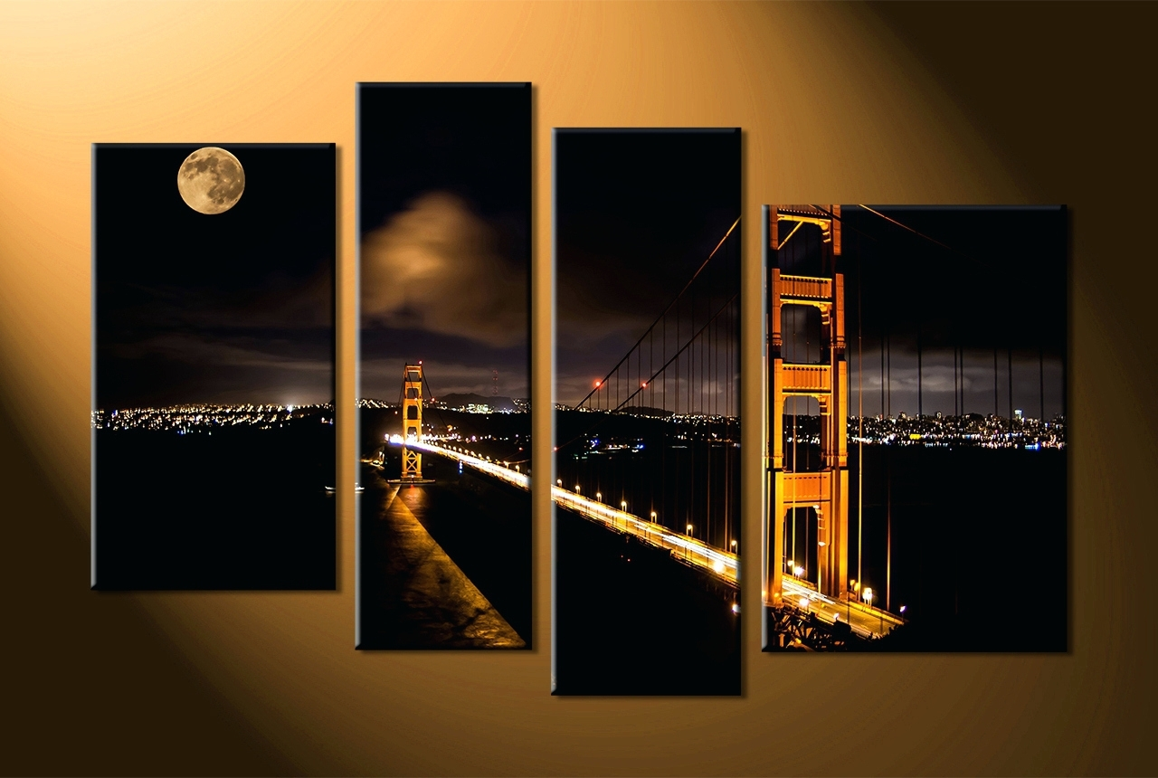 Wall Arts ~ 4 Piece Contemporary Wall Art 4 Piece Framed Wall Art In Fashionable 4 Piece Canvas Art Sets (View 11 of 15)