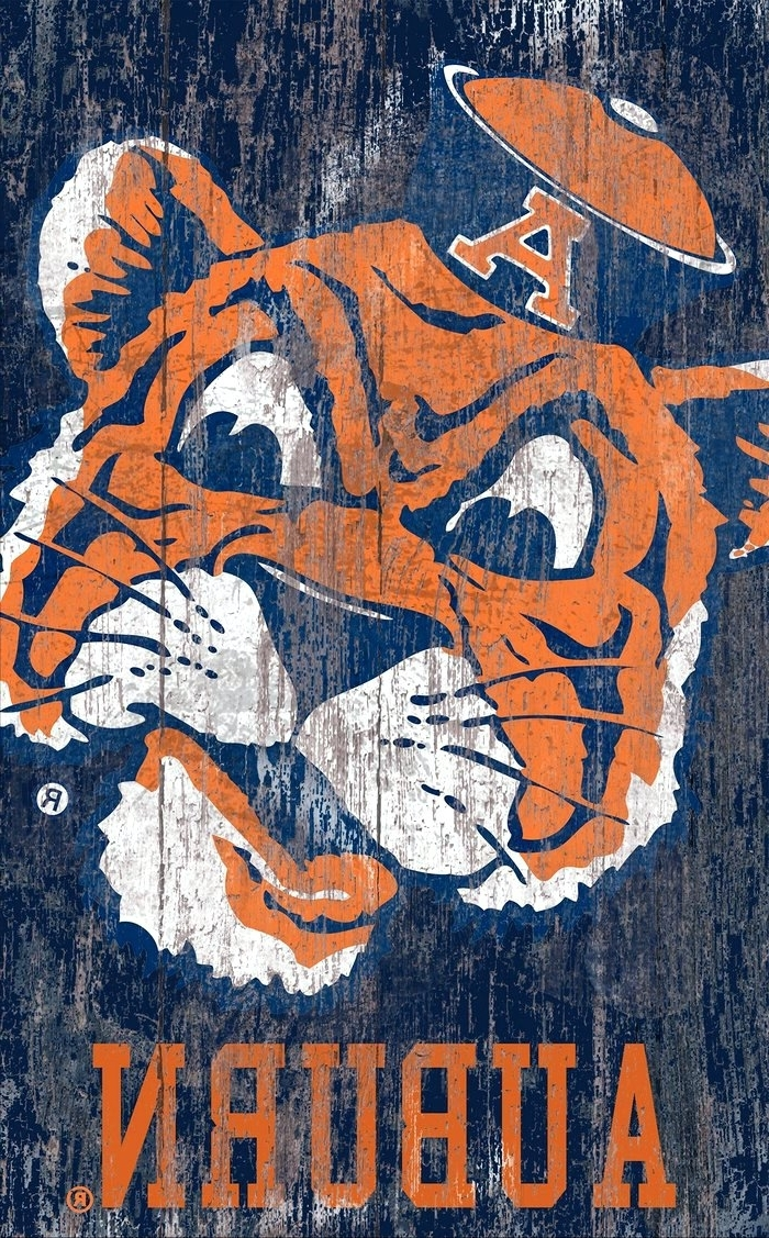 Wall Arts ~ Auburn Tigers Collectibles Wall Art Fan Cave Intended For Well Known Auburn Wall Art (View 5 of 15)
