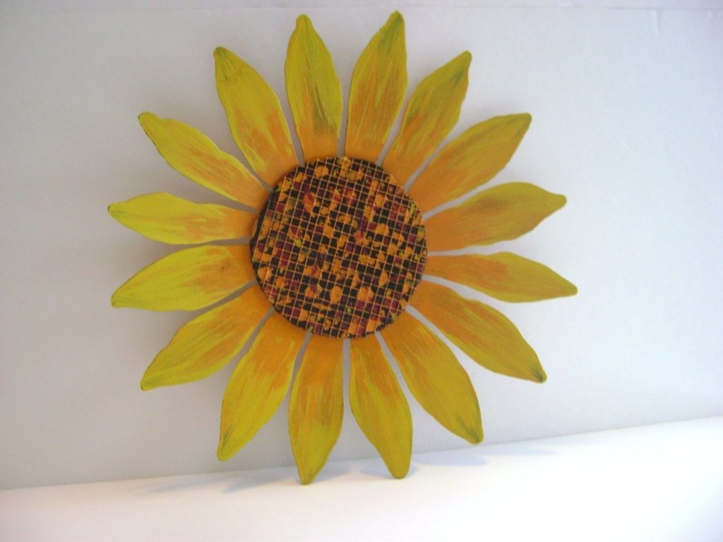 Displaying Photos of Metal Sunflower Wall Art (View 6 of 15 Photos)