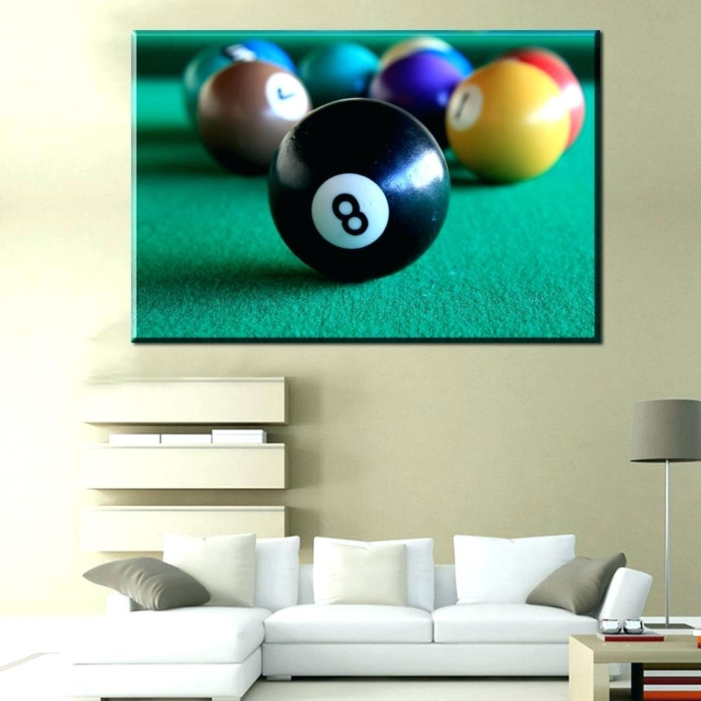 Wall Arts: Billiards Wall Art. Billiard Ball Wall Art (View 15 of 15)
