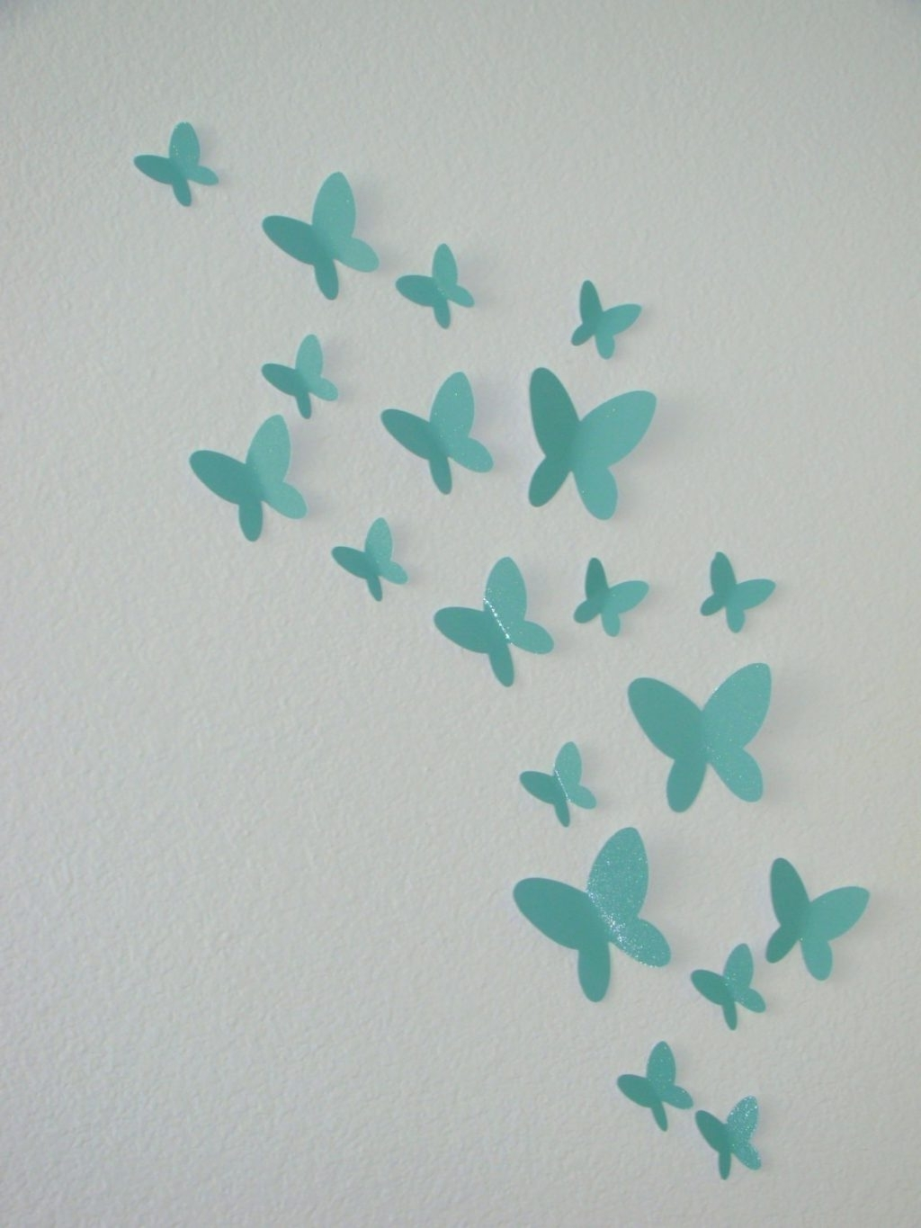 Wall Arts ~ Blue Butterfly 3D Wall Art 3D Paper Butterfly Wall Art In Most Current Butterflies 3D Wall Art (View 14 of 15)