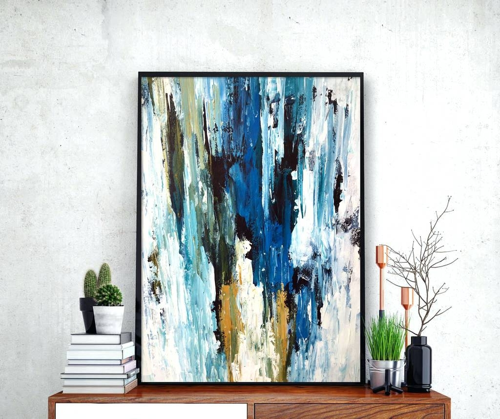 Wall Arts ~ Blue Green Abstract Wall Art Home Decor 2 Piece Canvas Regarding Well Known Blue Green Abstract Wall Art (View 14 of 15)
