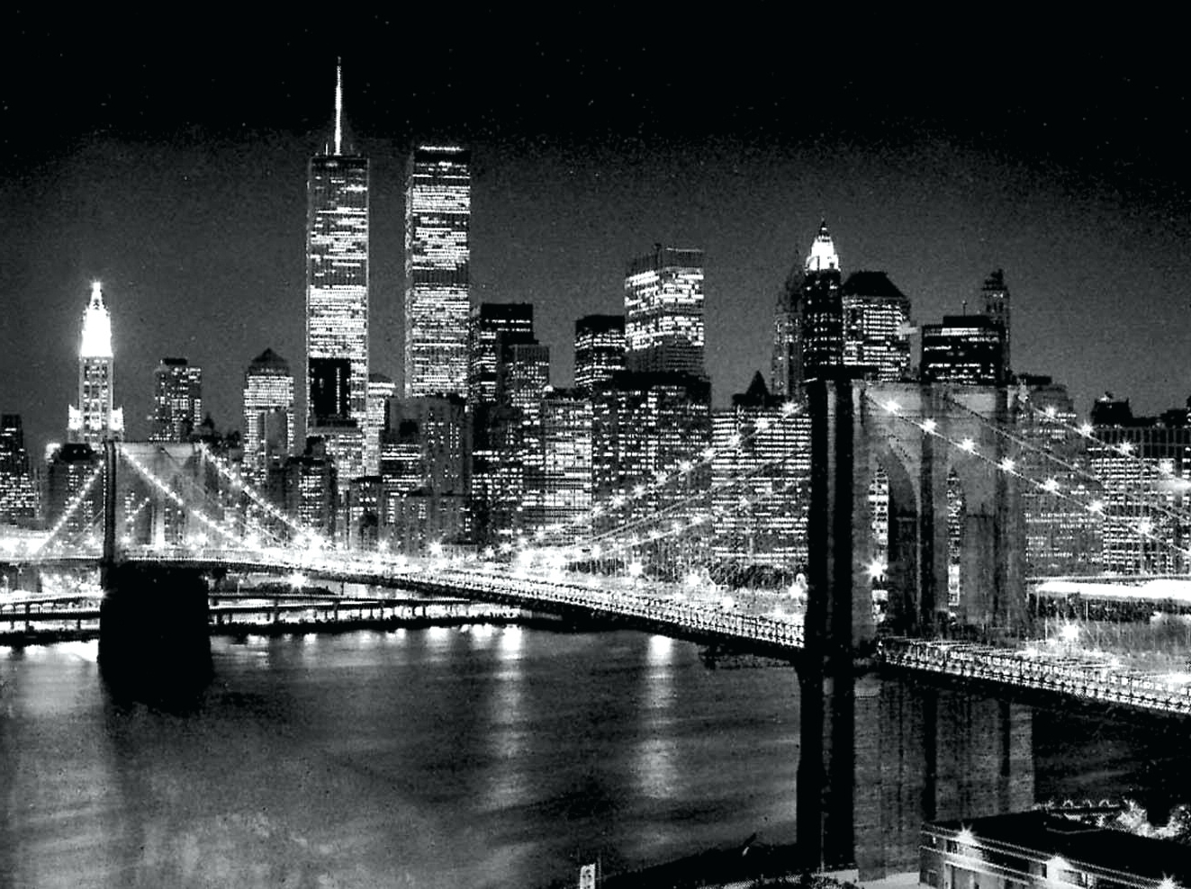 Wall Arts ~ Brooklyn Bridge At Night Canvas Wall Art Brooklyn Inside Trendy Brooklyn Bridge Metal Wall Art (View 11 of 15)