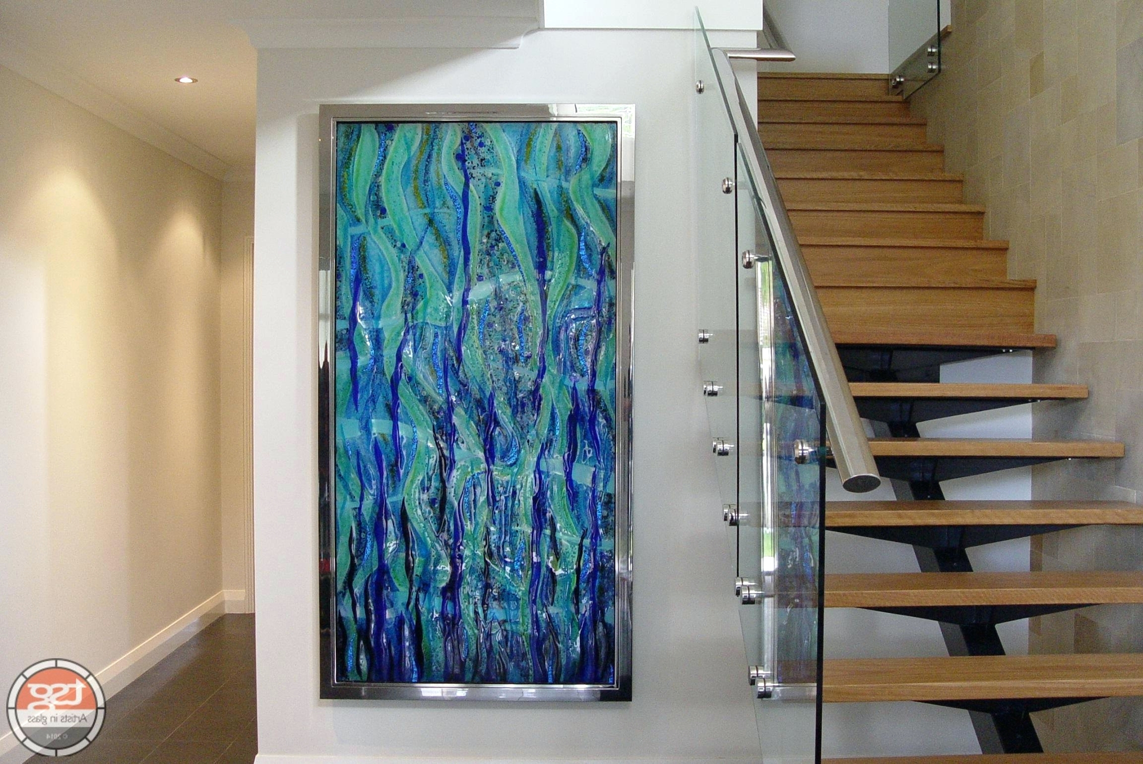 Wall Arts ~ Contemporary Glass Wall Art Uk Wall Art Glass Painting In Trendy Modern Glass Wall Art (View 15 of 15)