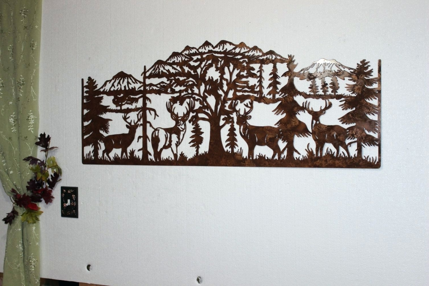 Wall Arts ~ Custom Metal Wall Decor Custom Made Deer And Mountain Pertaining To Preferred Mountain Scene Metal Wall Art (View 14 of 15)