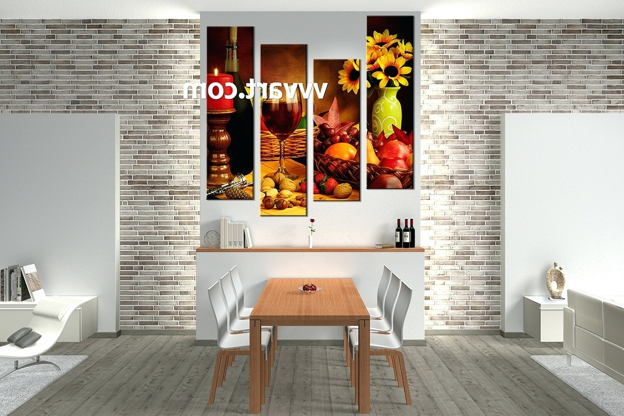 Wall Arts ~ Dining Room Wall Art Wine Canvas Wall Art Glass Wall With Trendy Canvas Wall Art For Dining Room (View 11 of 15)