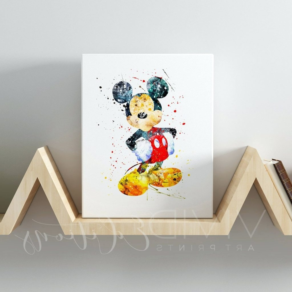 Wall Arts ~ Disney Mickey Mouse Led Light Up Canvas Wall Art Regarding Fashionable Disney Canvas Wall Art (View 8 of 15)