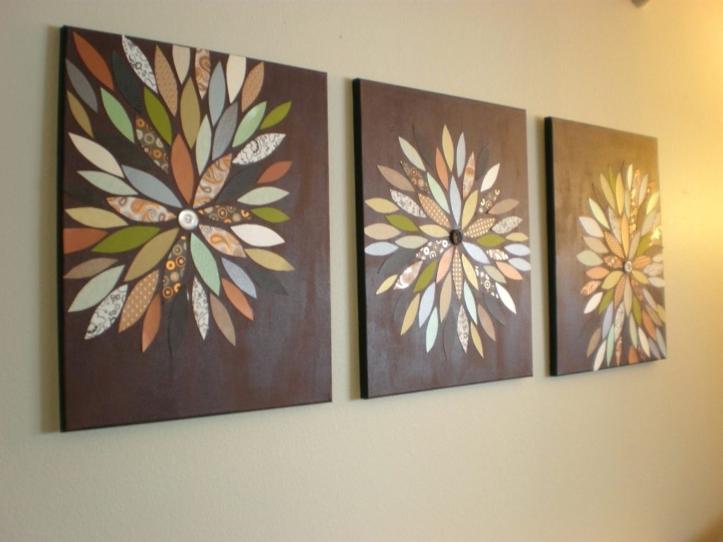 Wall Arts ~ Diy Home Decor 6 Brown And Teal Metal Wall Art Dark For Current Diy Metal Wall Art (View 5 of 15)