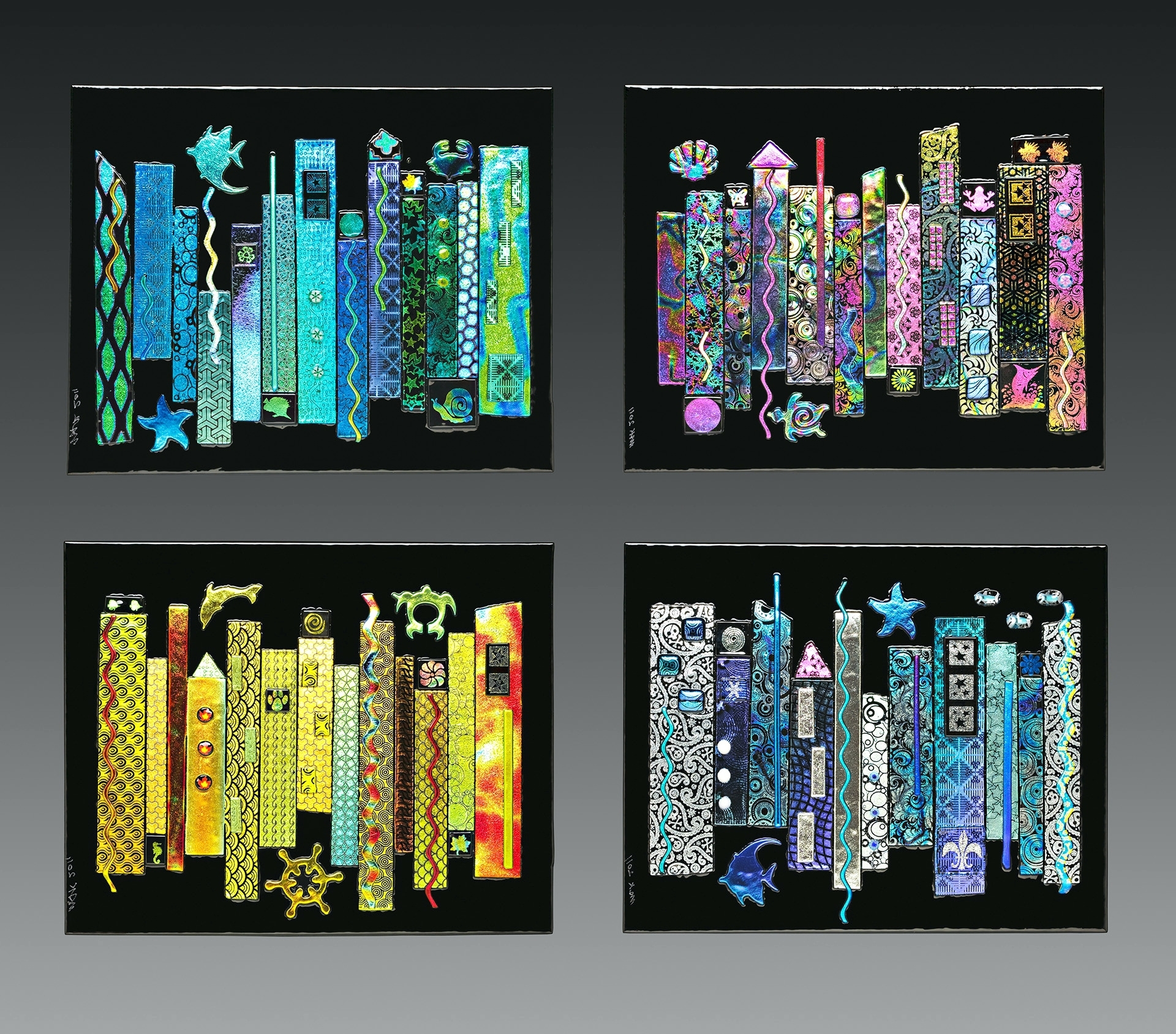 Wall Arts ~ Fused Glass Wall Artwork Blown Glass Wall Art Decor With Fashionable Fused Glass Wall Art (View 15 of 15)