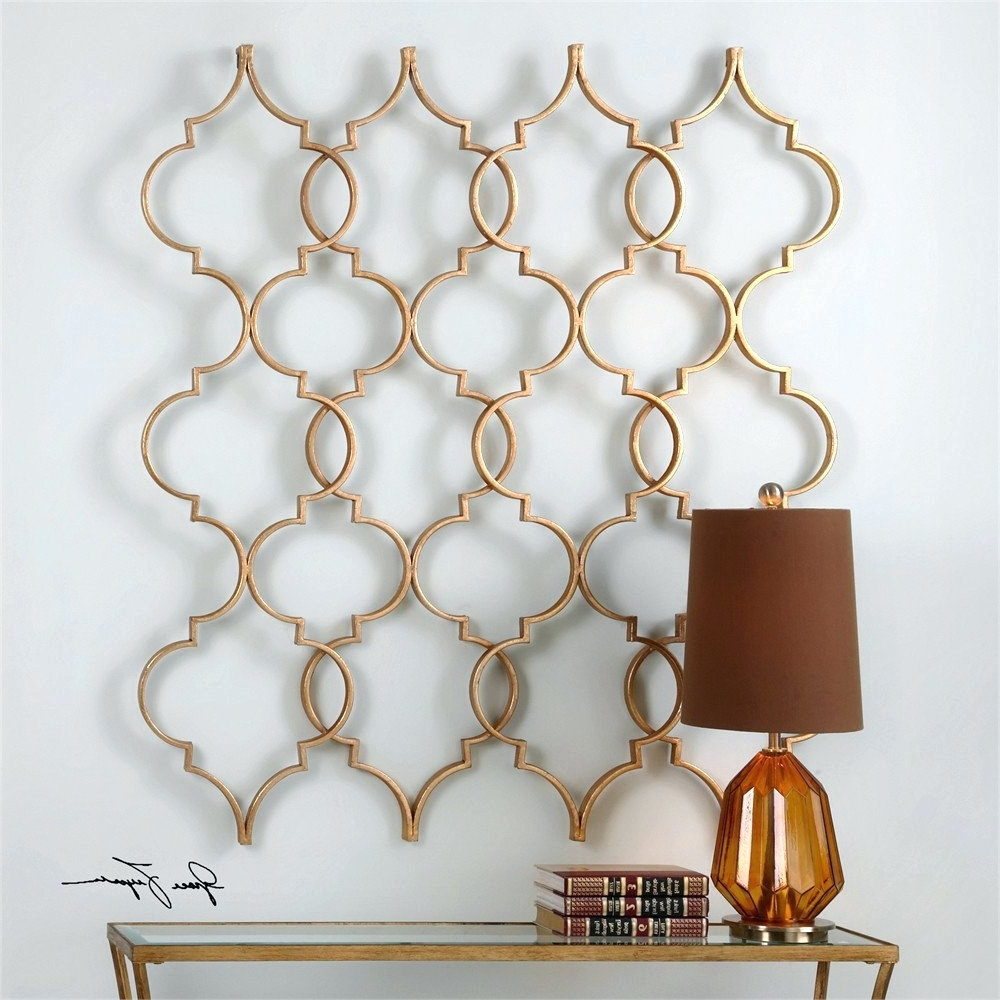 Wall Arts ~ Geometric Metal Wall Art Abstract Geometric Metal Wall Pertaining To Well Liked Moroccan Metal Wall Art (View 13 of 15)