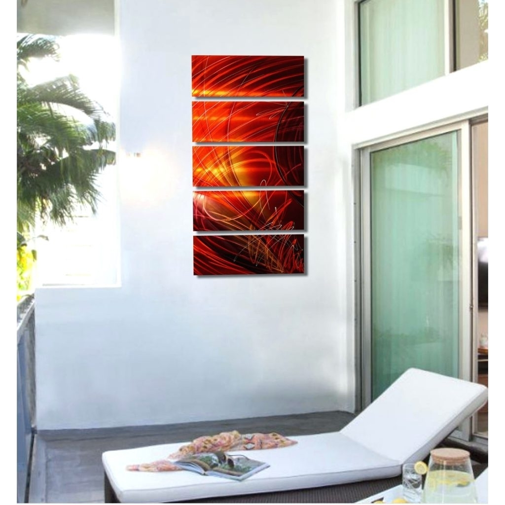 Wall Arts ~ Glass Wall Artwork Ruby Sky Red Gold And Purple Metal Inside Well Liked Fused Glass Wall Artwork (View 14 of 15)